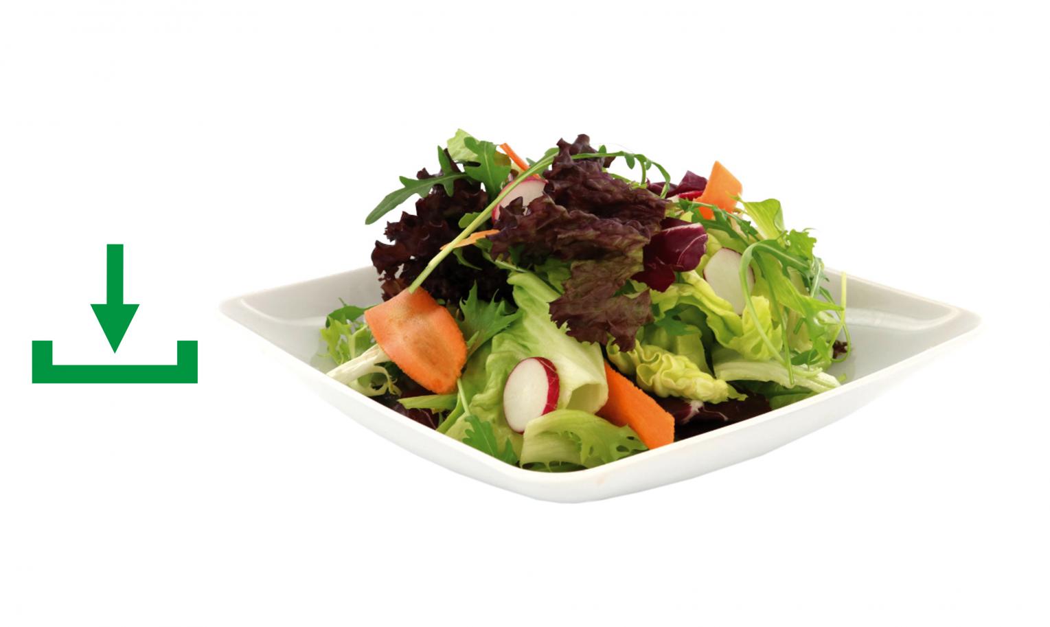 Salatmischung Teller